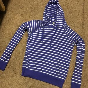 Tops - Purple and white hoodie